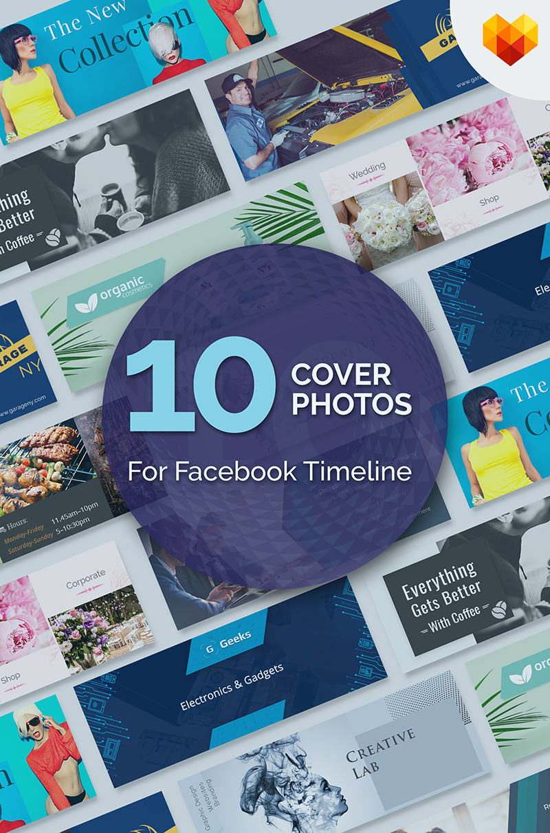"""10 Cover Photos For Facebook Timeline"" bundle  #66802"