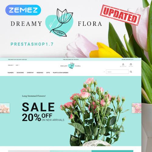 Dreamy Flora - PrestaShop Template based on Bootstrap