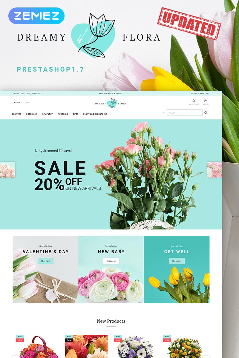 """Dreamy Flora"" 响应式PrestaShop模板 #66877"