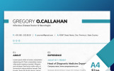 Gregory O Callahan - Infectious Disease Doctor & Neurologist Resume Template