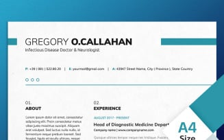 Gregory O Callahan - Infectious Disease Doctor & Neurologist Resume Template