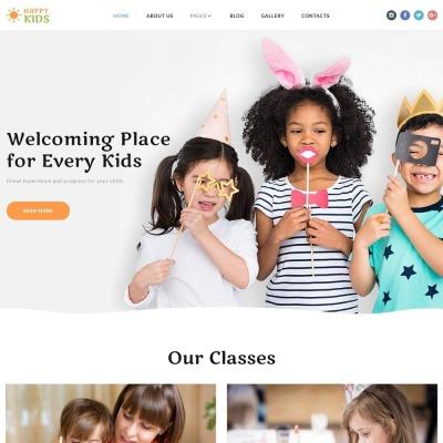 Responsive Joomla Vorlage für Kindercenter