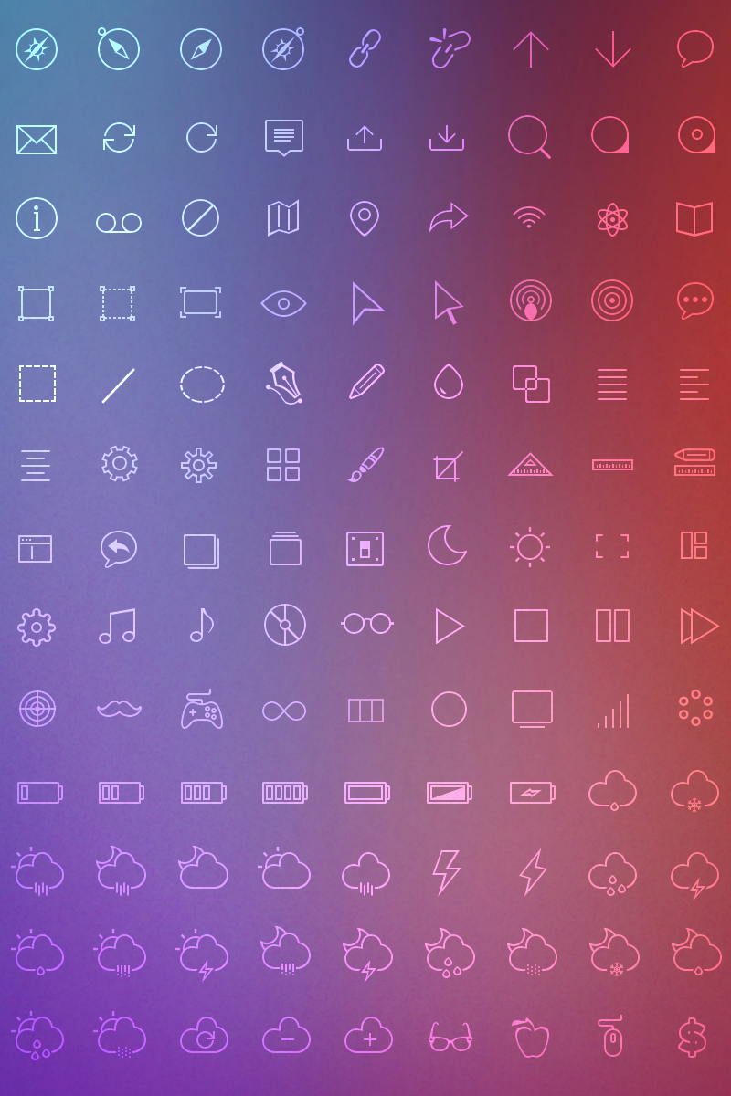 Linicons Iconset Template