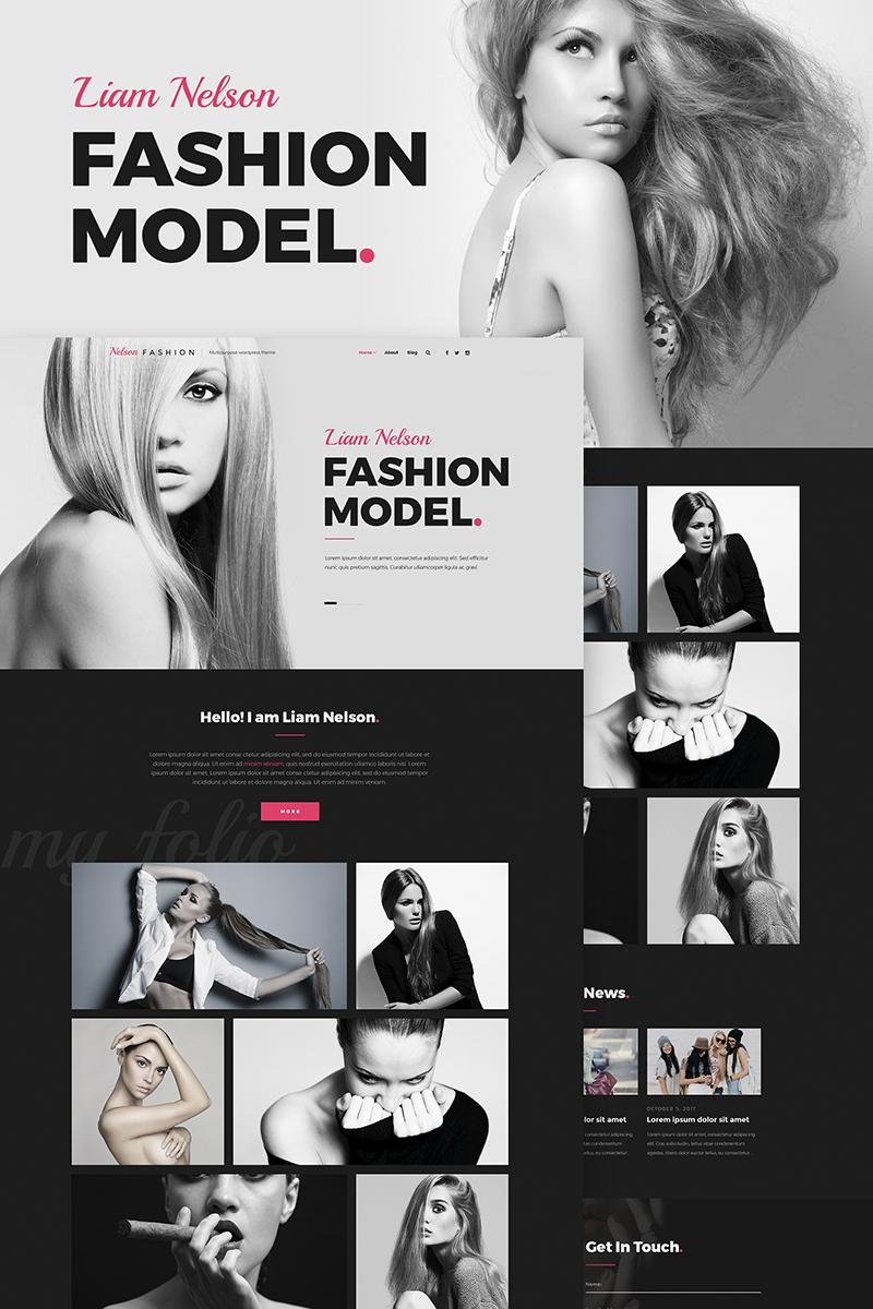 Nelson Fashion - Model Agency Elementor WordPress Theme - screenshot