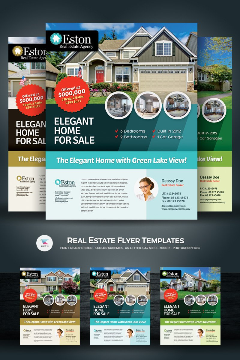 Real Estate Flyer Corporate Identity Template 66873