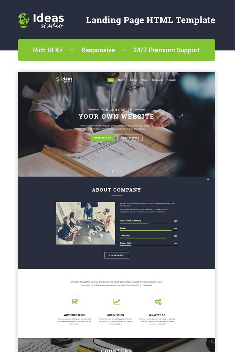 "Responzivní Šablona mikrostránek ""Ideas Studio - Design Studio HTML5"" #66885"