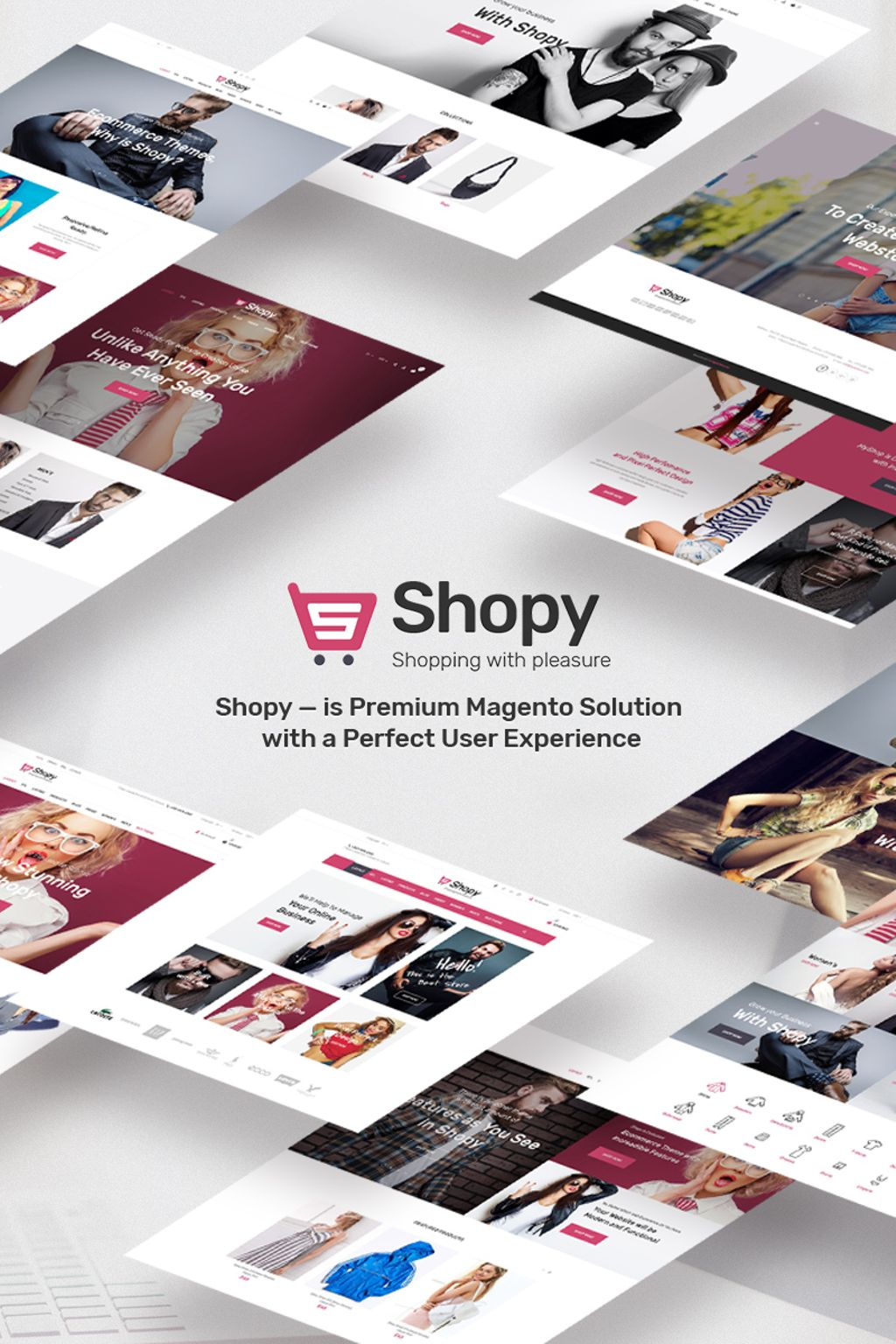 """Shopy - fashion"" thème Magento adaptatif #66856 - screenshot"