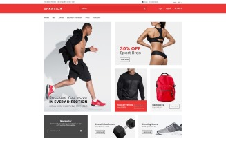 Spotrico - Sports Clothing Shop OpenCart Template