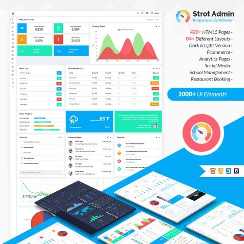 Strot Admin - Responsive Dashboard - Admin Template based on Bootstrap