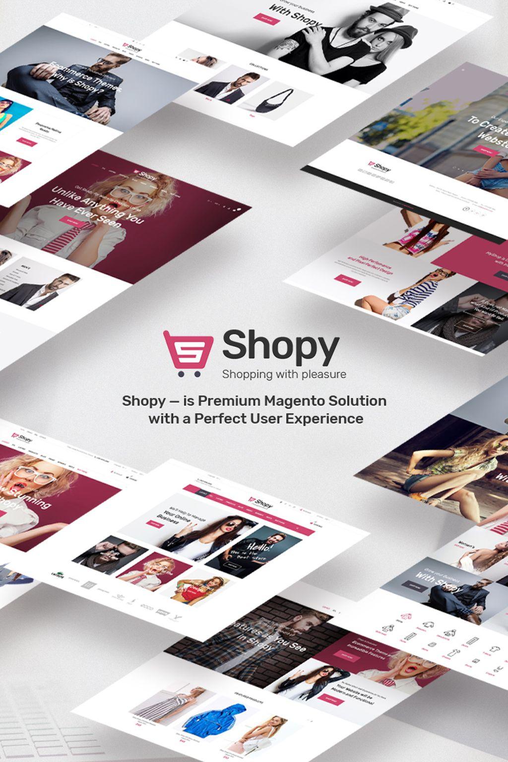 """Tema Magento """"Shopy - fashion"""" #66856"""