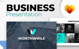 WorthWhile Consulting PPT Design Powerpoint Şablonu