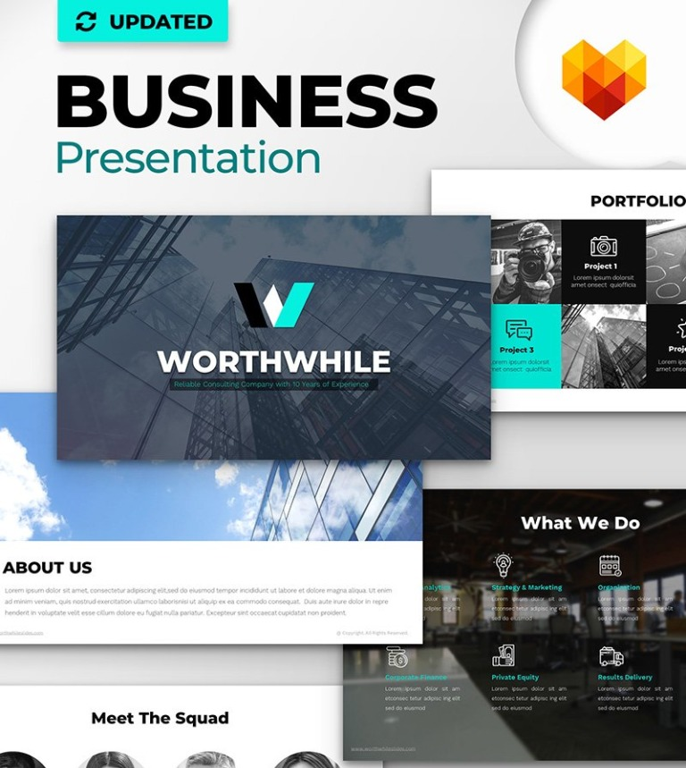 worthwhile consulting ppt design powerpoint template big screenshot