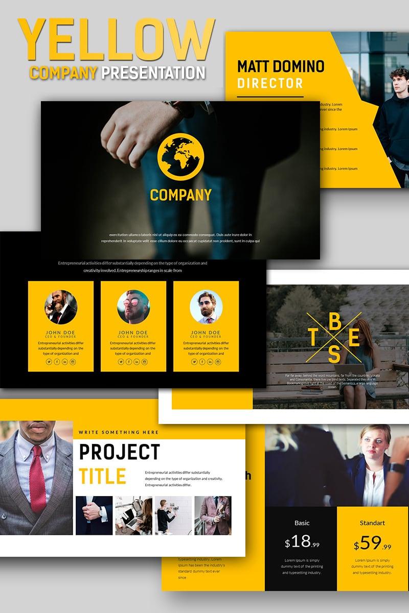 Yellow Company Business Keynote Template