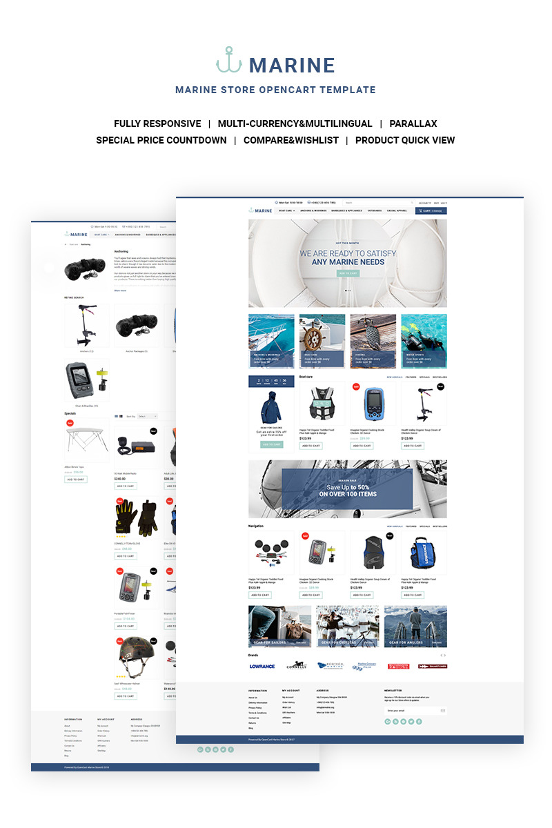 Sport opencart template 66900 for Opencart bookstore template