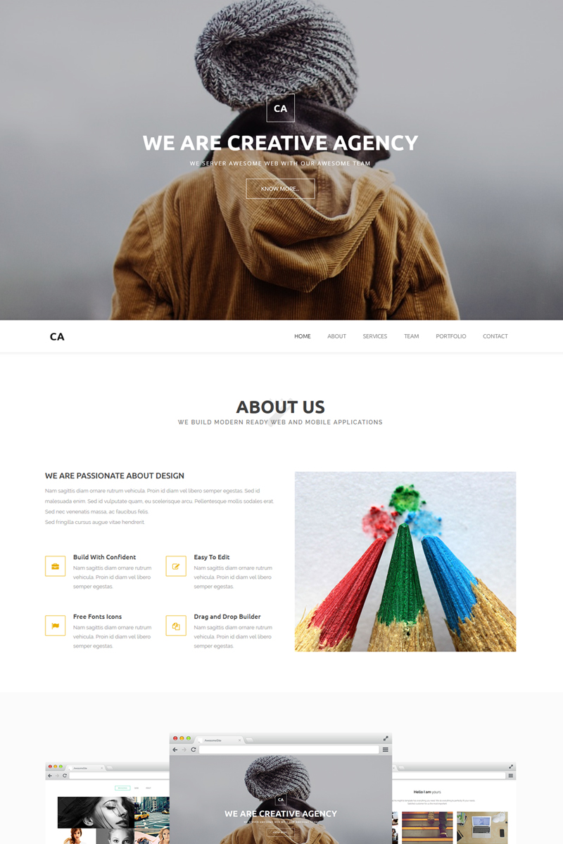 Website Design Template 66973 - parallax multipurpose responsive agency corporate business one page multipage aodbe muse adobe
