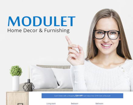Modulet Home Decor & Furnishing Template WooCommerce Theme