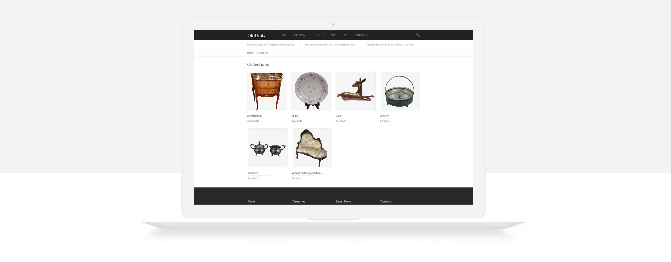OldUnit. - Antique Store Shopify Theme