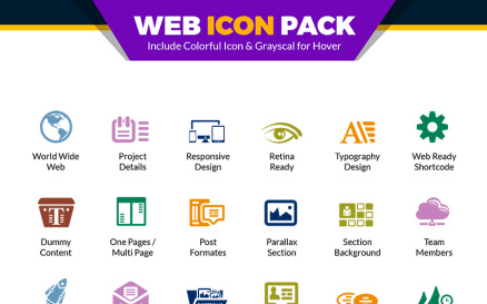 Web Pack   Website Vector for Web Design and Development Agency or Company   Website Use Icon Set