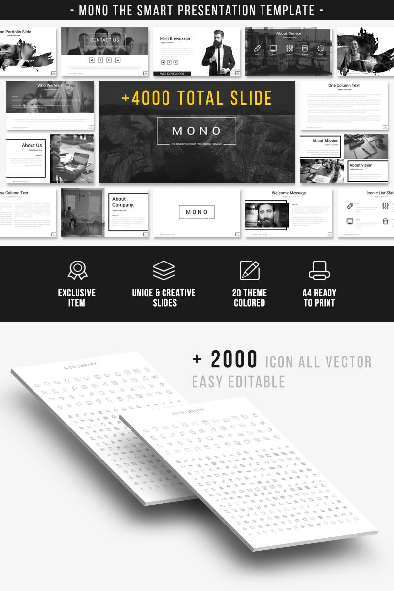 Bootstrap Mono - The Smart Presentation PowerPoint sablon 66985