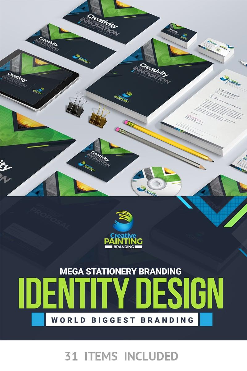 business mega branding stationery identity template bundle 66921