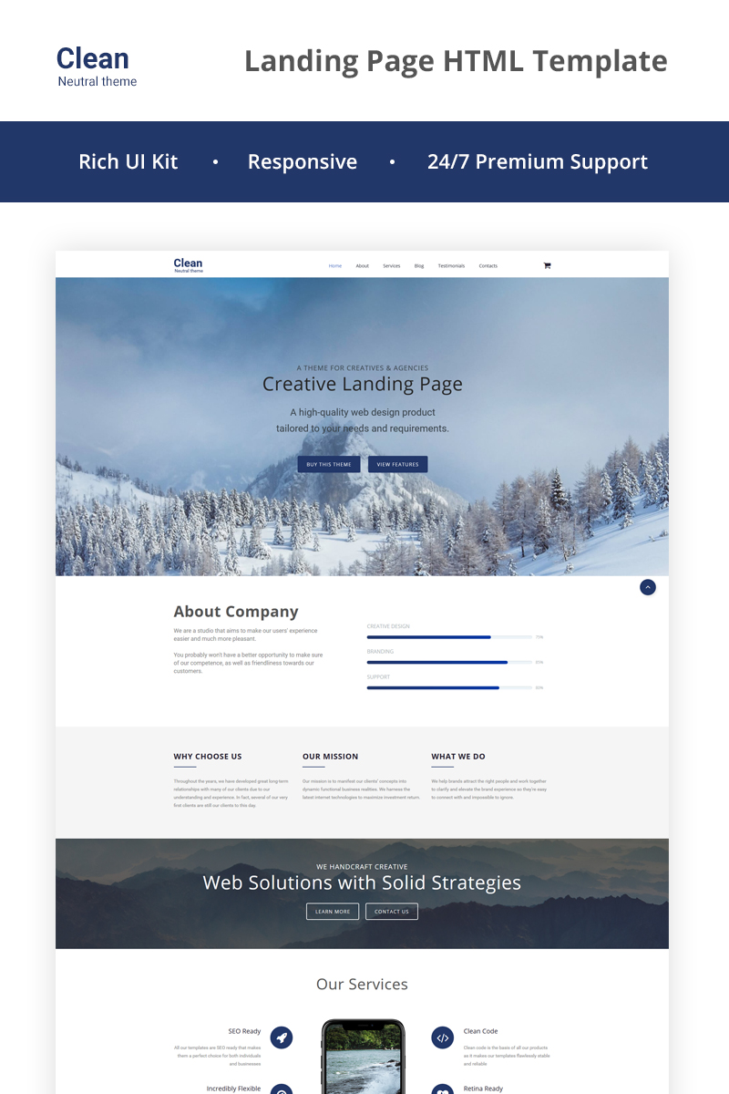 Neutral HTML5 Landing Page Template