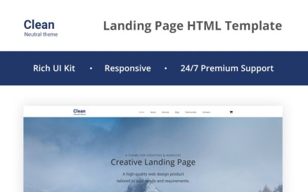 Clean - Neutral HTML5 Landing Page Template
