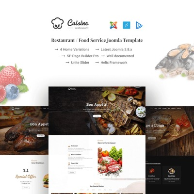 cafe and restaurant joomla template