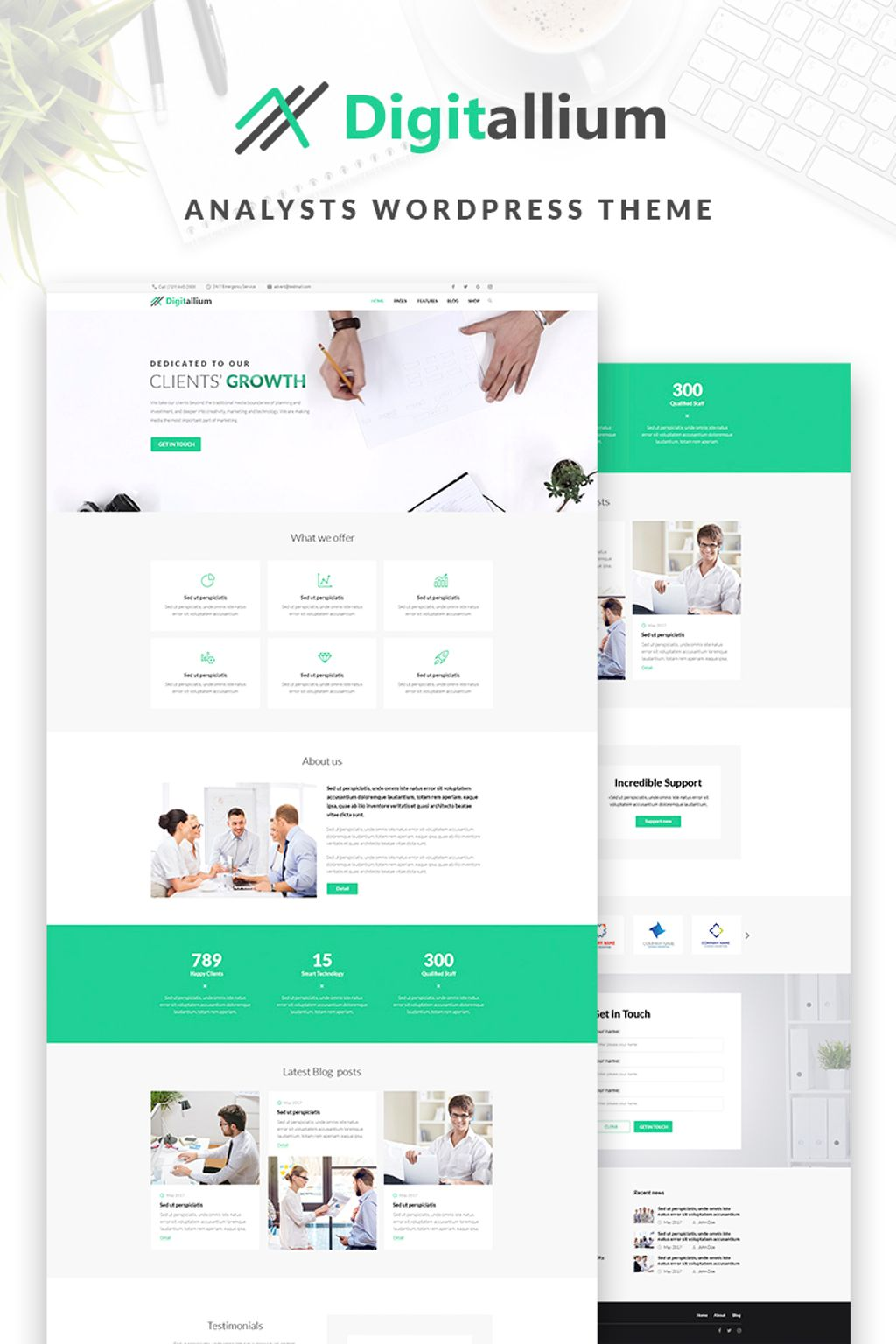 Digitalium - Marketing Agency Elementor WordPress Theme - screenshot
