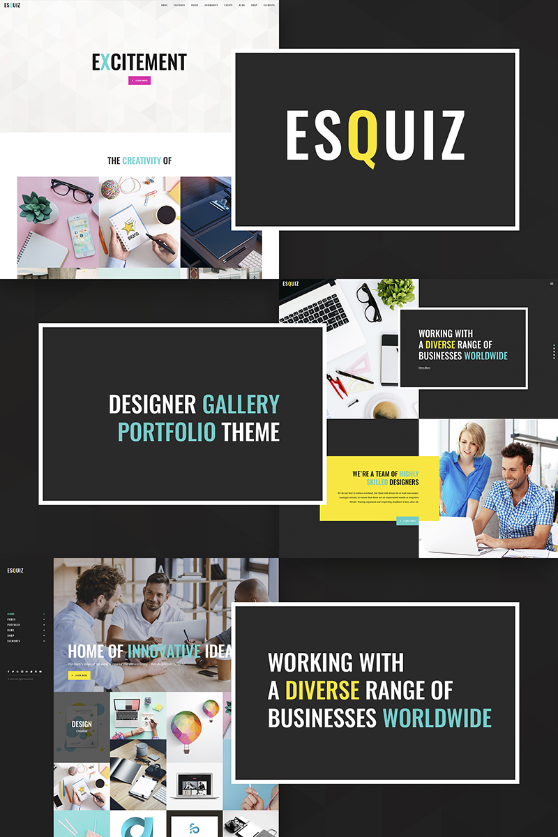 Esquiz - Design Studio WordPress Theme