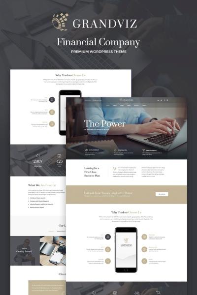 Grandviz - Premium WordPress Theme für Banken und Finanzdienstleistern #66990