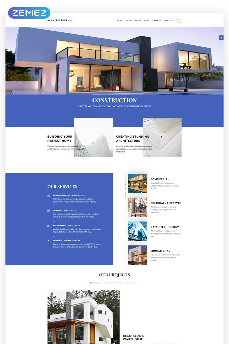 "Joomla Vorlage namens ""Architecture Co. - Construction Multipage Creative"" #66988"