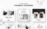 Media społecznościowe Triangles - Instagram Stories Pack #66930