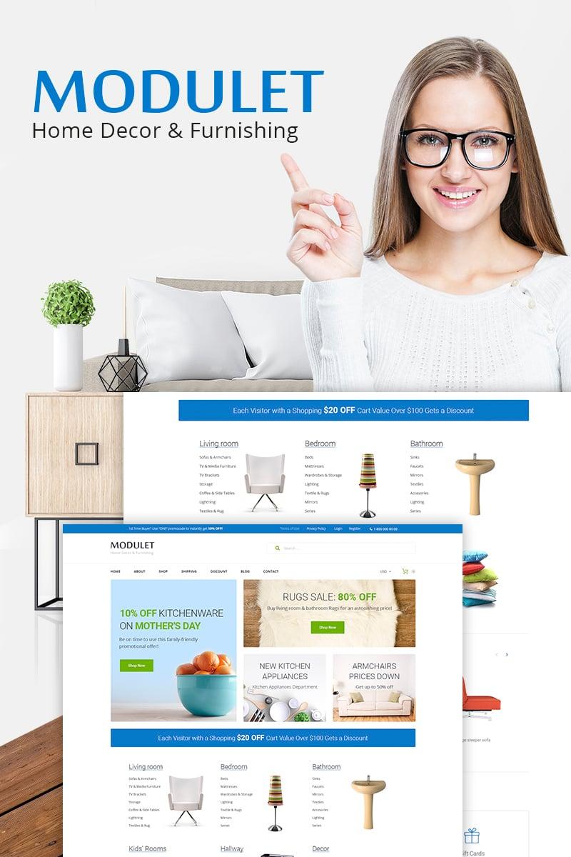 """Modulet Home Decor & Furnishing Template"" - адаптивний WooCommerce шаблон №66974 - скріншот"