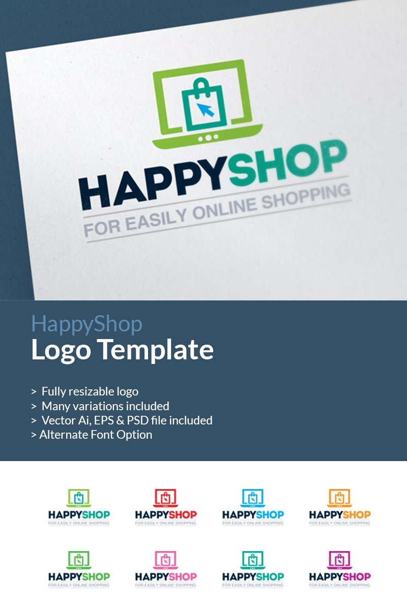 Online shopping e commerce shop logo template 66914 for Name of online shopping websites