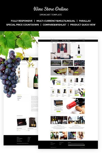 Responsive OpenCart Vorlage für Wine