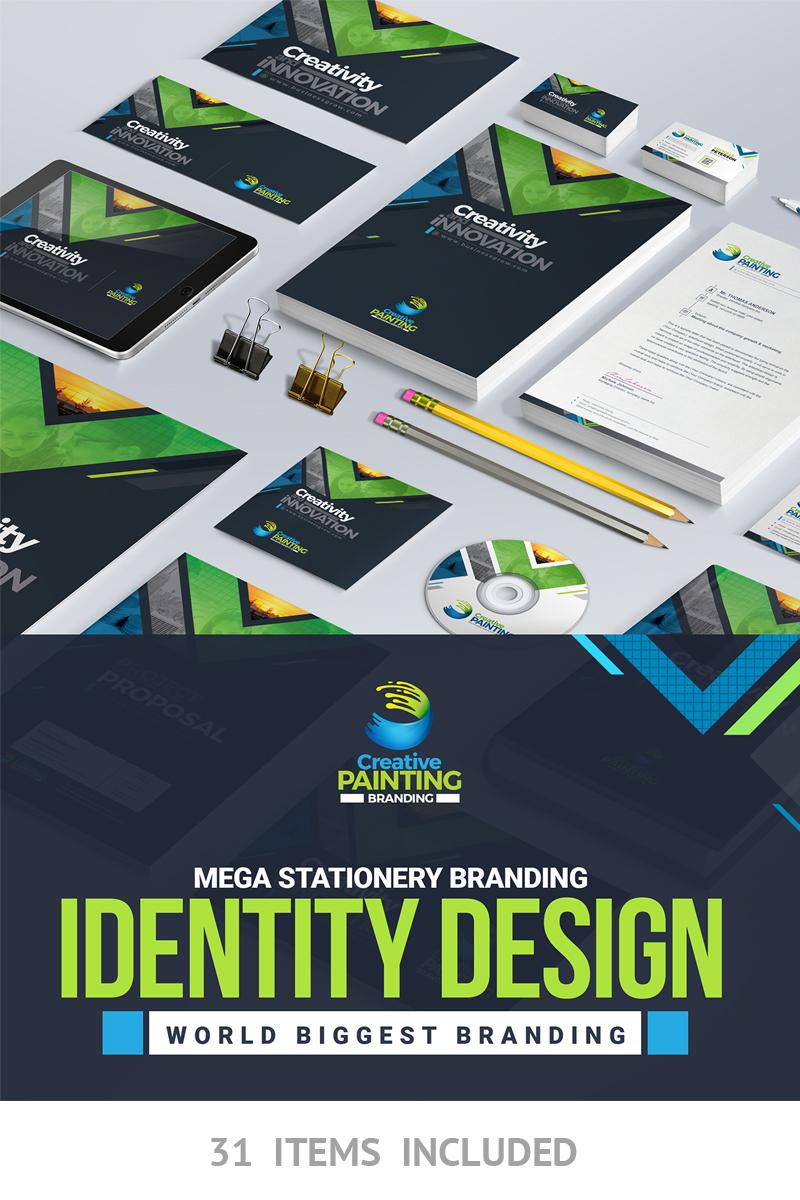"Plantilla De Identidad Corporativa ""Business Mega Branding Stationery Identity Template"" #66921"
