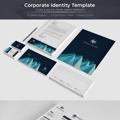 Plantilla de Identidad Corporativa #66998 para Sitio de Papelería