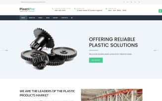 PlastiPro - Industrial Responsive Joomla Template