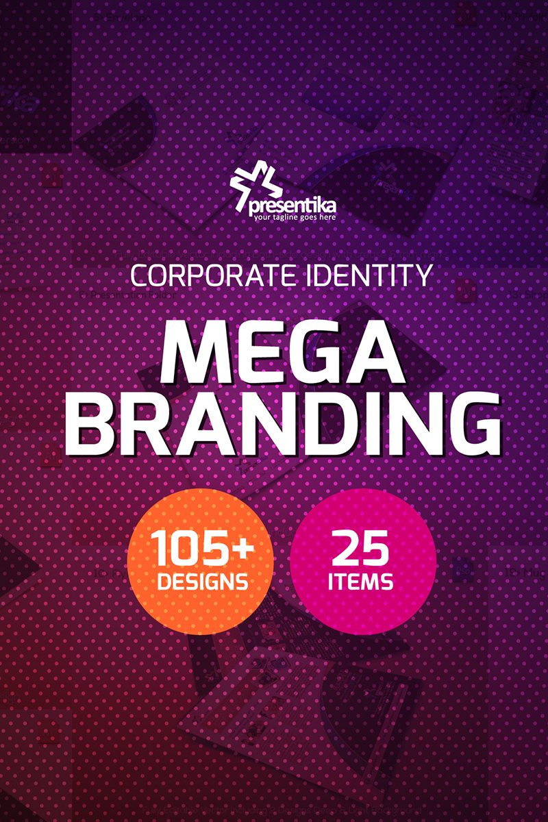 Presentica | Corporate Business Branding Identity Pack Template de Identidade Corporativa №66908