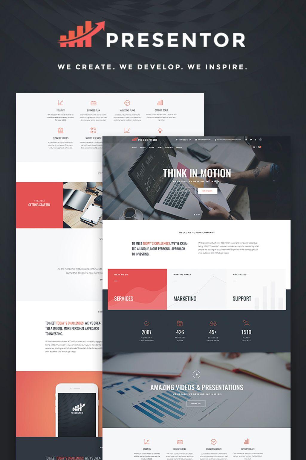 Presentor - Business Elementor WordPress Theme - screenshot