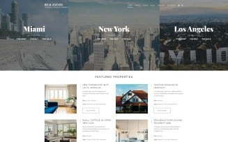 Real Estate - Renting Agency Responsive Joomla Template