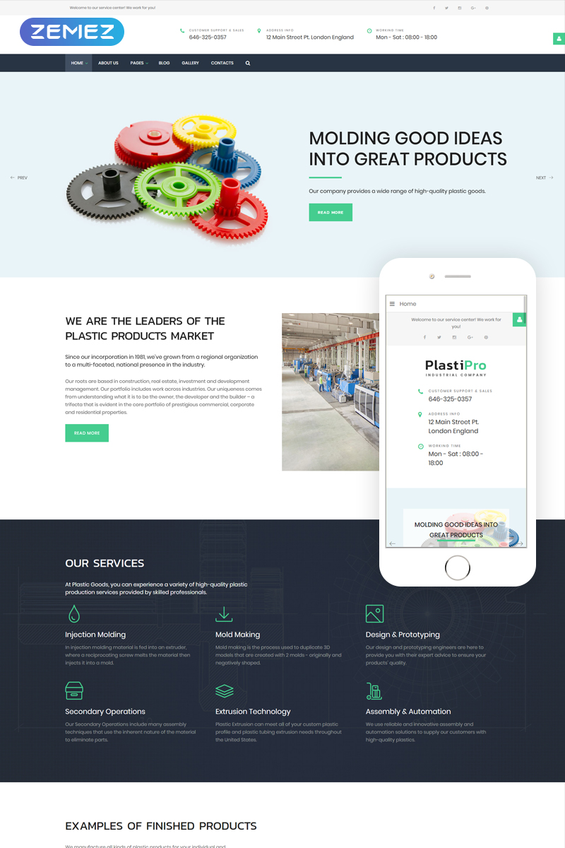 Responsivt PlastiPro - Industrial Responsive Joomla-mall #66905