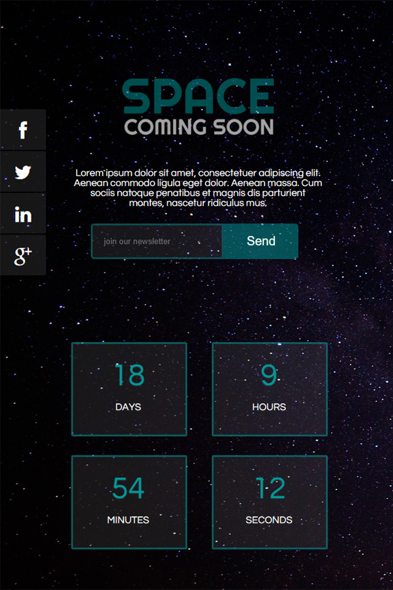 """Space Coming Soon"" Speciale pagina №66945"