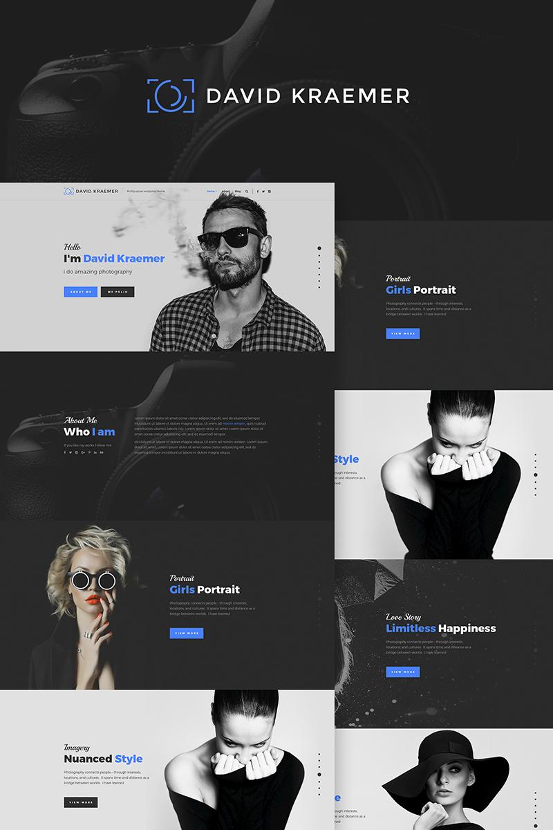 "Tema WordPress Responsive #66972 ""David Kraemar - Photographer"""