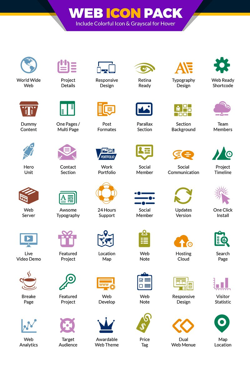 Web Pack | Website Vector for Web Design and Development Agency or Company | Website Use Iconset #66979