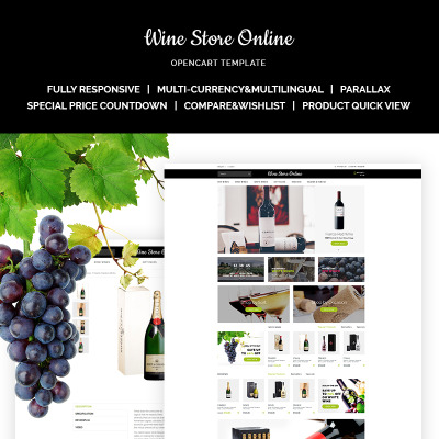 opencart bookstore template - opencart wine templates