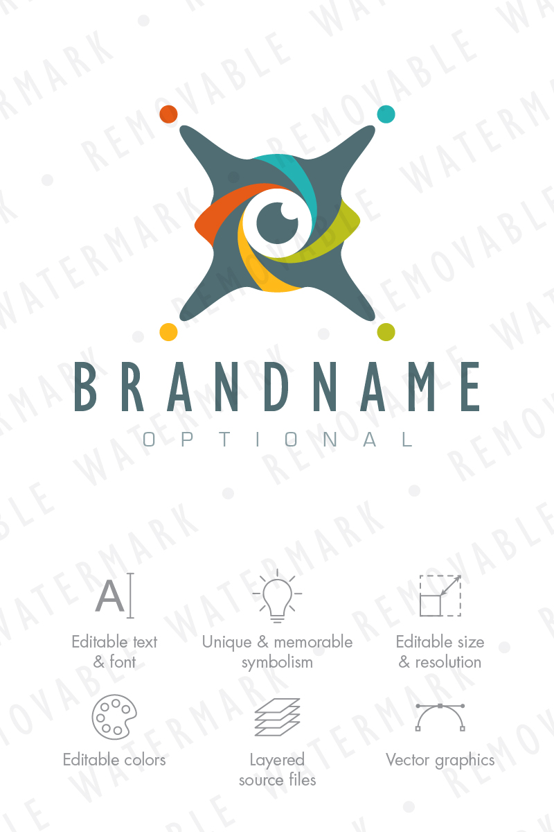 x drone eye logo template 66969