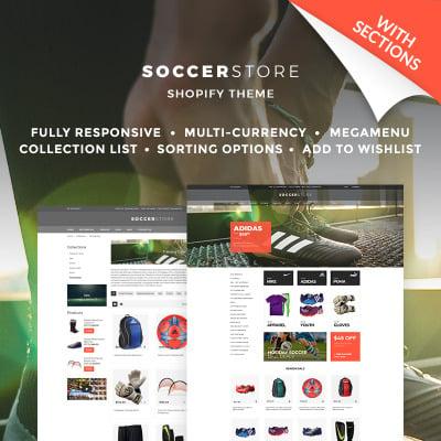 Fotboll Responsivt Shopify-tema