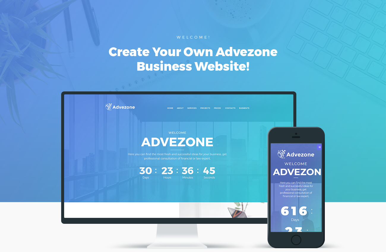 Advezone - Financial Advisor WordPress Theme #67050