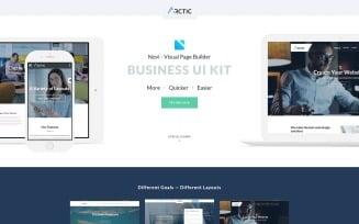Arctica - Multipurpose Business with Novi Builder Landing Page Template